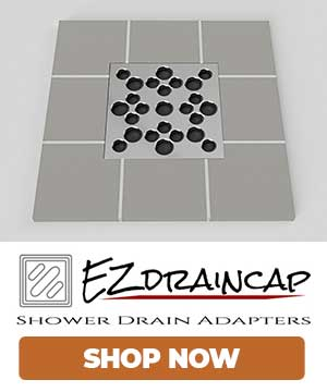 EZ Drain Cap Shower Drain Adapters